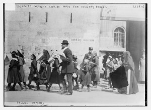 "Bain News Service, ""Belgian Orphans Leaving Paris for Country Homes, 1914,"" Library of Congress"