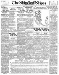 The Stars Stripes Soldiers Newspaper- First ever edition.