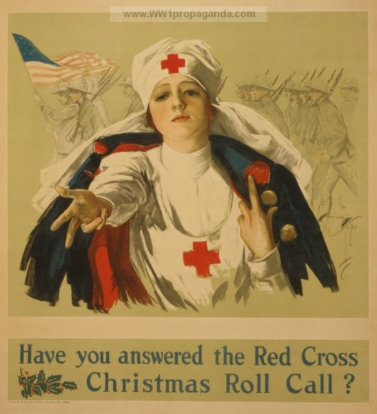 Vintage French WW1 Propaganda Poster Here are the Americans